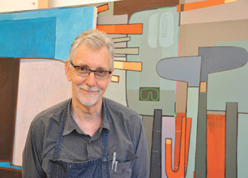 David Storey, assistant professor of visual arts, will use his fellowship period to develop a series of paintings. Photo by Janet Sassi