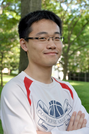 Haixiang Wang credits his scholarship and graduate assistantship with allowing him to study at Fordham.  Photo by Gina Vergel