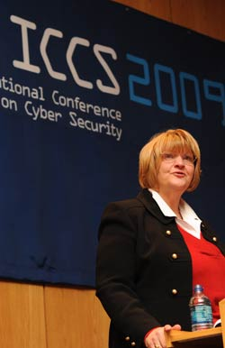 Sandra Stanar-Johnson gave an overview  of 22 U.S. agencies' plans for more  consolidated cyber security.