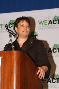 Lisa Jackson, head of the Environmental Protection Agency, told a standing-room-only crowd on Jan. 30 that her agency would work to regain the public's trust. She said that the EPA will rely more on technical experts than it had under the Bush administration.