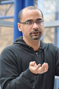 Pulitzer Prize-winning fiction writer Junot Diaz explained on April 15 to an audience on the Lincoln Center campus how his heritage and upbringing influence his work.