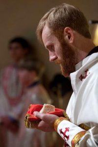 Matthew Baker at his ordination.