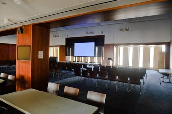 The newly renovated 12th-Floor-Lounge seats up to 282 people. Photo by Ryan Brenizer
