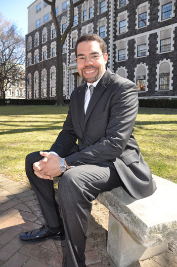 Brian Purnell Ph.D., is investigating how and why racial conflicts turn violent.  Photo by Patrick Verel