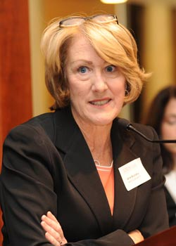 Anne M. Mulcahy, chairman of Xerox, says that corporate leaders must understand that public sentiment sometimes compels lawmakers to regulate.  Photo by Chris Taggart