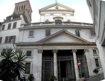 The Church of Sant'Eustachio as it appears today.
