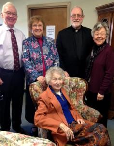 John Carroll, Sister Anne-Marie Kirmse, Father Patrick J. Ryan, SJ, and Sister Judith Kubicki.