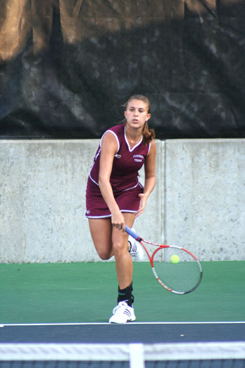 Senior Dominique Liguori has not lost a tennis match for Fordham in more than two seasons. Photo courtesy of Fordham Athletics