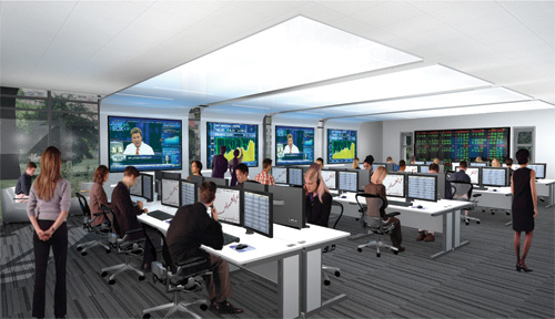 The first floor will feature an advanced trading room.