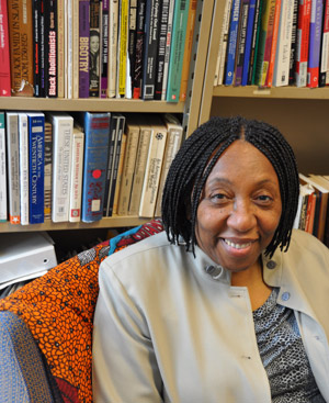 Irma Watkins-Owens, Ph.D., is reconstructing the histories of African American and Caribbean women who migrated to New York City in the late 19th and early 20th centuries.  Photo by Gina Vergel
