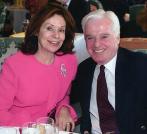 John P. Kehoe and his late wife, Veronica, for whom Fordham's Black Box Theatre will be named after renovations are complete. The gift also provides for a scholarship fund. Photo courtesy of John Kehoe