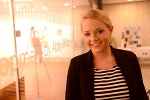 Junior Katie Moran researched religious affiliation and inclusion among undergrads.