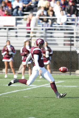Ben Dato is one of the top returning punters in the Patriot League. Photo by Vincent Dusovic