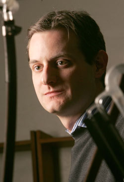 Jon Friedrich, Ph.D., assistant professor of chemistry. Photo by Bruce Gilbert
