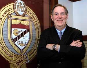 Kevin T. Jackson, J.D., Ph.D., professor of legal and ethical studies  Photo by Ken Levinson