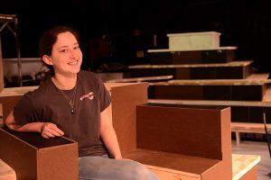 Set designer Jessie Bonaventure takes the throne.