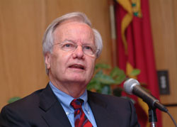 Bill Moyers: We let people get away with an Orwellian perversity, where words mean whatever the state wants them to mean. Photo by Chris Taggart