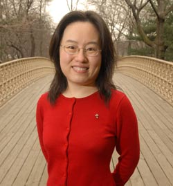 Qin Gao, Ph.D., studies social benefits in China. Photo by Chris Taggart