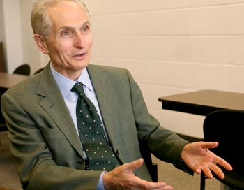 Dominick Salvatore, Ph.D., Distinguished Professor of Economics. Photo by Michael Dames