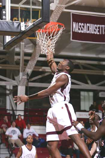 Senior forward Bryant Dunston is Fordham's career leader in blocked shots with 288. Photo courtesy of Fordham Athletics