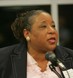 Shelia Evans Tranumn, associate commissioner of New York state's Department of Education. Photo by Bruce Gilbert