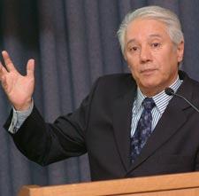 Ulises Beltrán Ugarte,Ph.D., former technical adviser to Presidents Carlos Salinas and Ernesto Zedillo. Photo by Chris Taggart