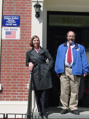 Angel Ventling and Henry Schwalbenberg, Ph.D., at Fordham. Photo courtesy of the Peace Corps