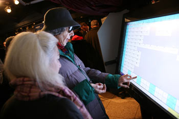 Hundreds of New Yorkers were anxious to try out the machines, slated to be in place by the 2008 elections. Photo by Michael Dames