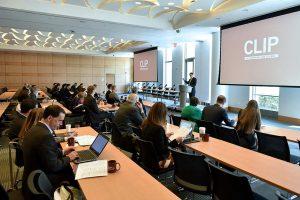 Joel Reidenberg, founder of CLIP, addresses attendees.Photos by Dana Maxson