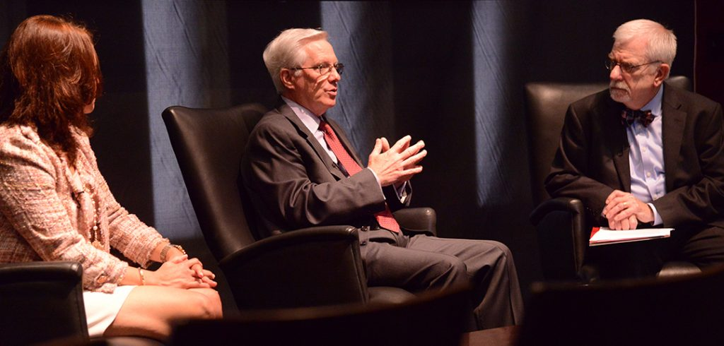 Bill Bakker, at right, moderated the discussion.