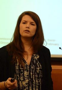 Ellie Frazer, a master's candidate in international political economy at Fordham
