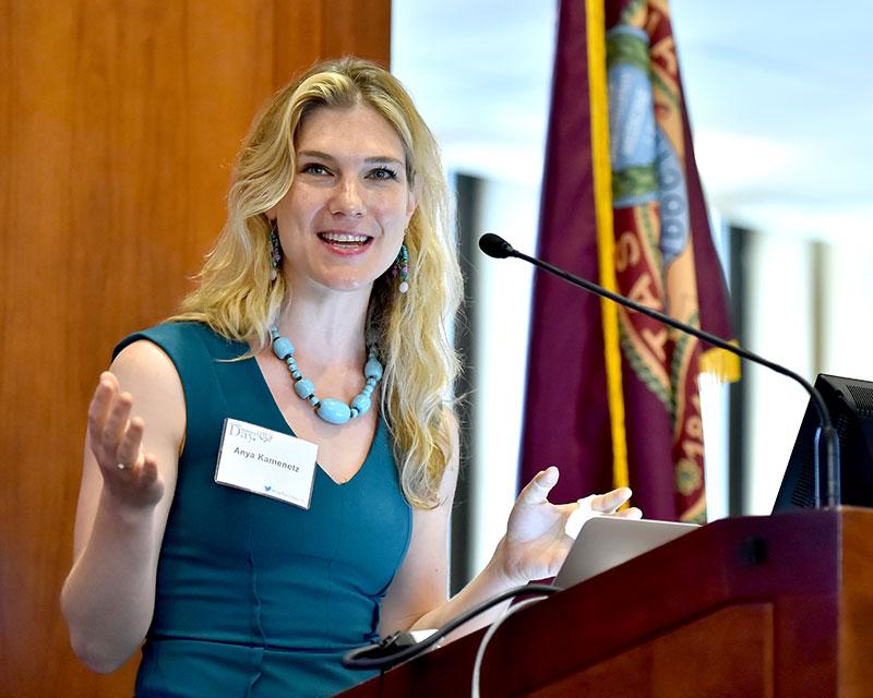 Anya Kamenetz offered the keynote at Faculty Technology Day. Photo by Dana Maxson