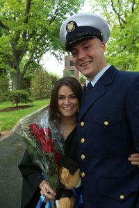 Amanda Gioscia, FCRH '15, with Coast Guard Seaman Ryan Czelatka