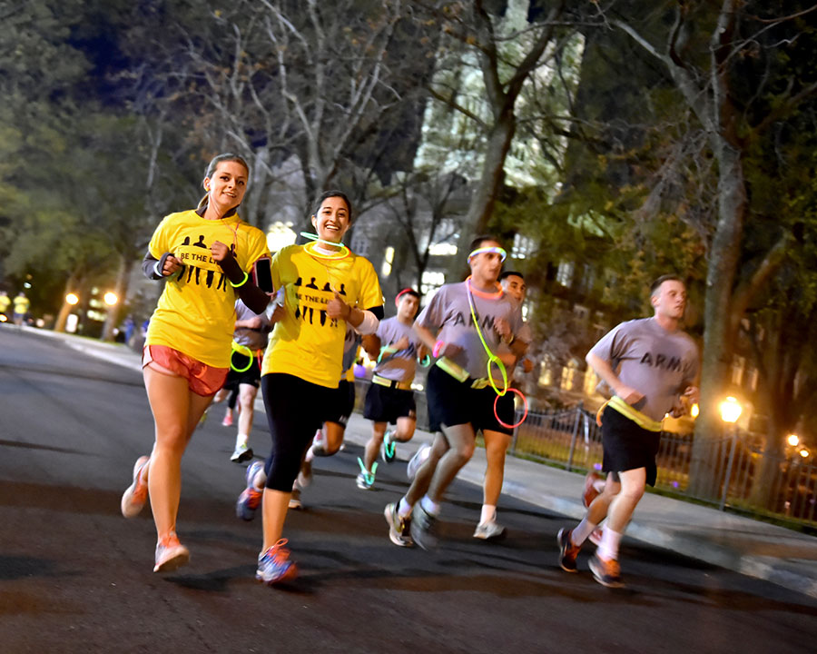 A glow-in-the-dark 5K run helped to raise awareness about sexual violence. Photo by Dana Maxson