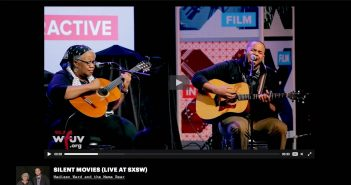 A screen capture of Madisen Ward and the Mama Bear, live at SxSW, on VuHaus, a new collaborative video website supported by WFUV.