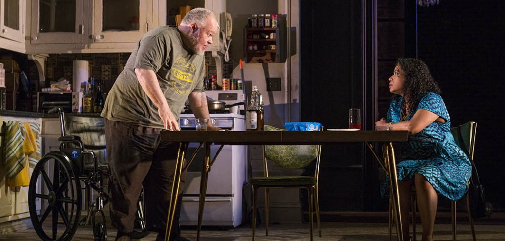 """Henderson acts opposite Liza Colón-Zayas in Atlantic Theater's """"From Riverside to Crazy."""""""