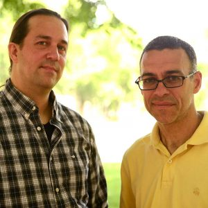 Professors Stephen Holler and Patricio Meneses.