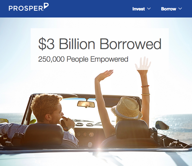 Launched in 2006, Prosper is one of the original peer-to-peer lending sites.