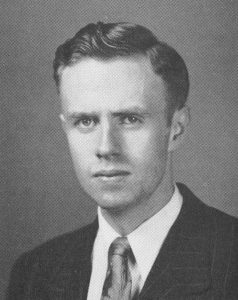 Philip Hoblin, in a photo taken from the 1951 Fordham Maroon yearbook
