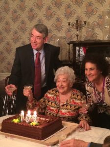 Liselotte Sperber celebrates her 102nd birthday with her son Alan  and his wife Betty  on January 19th, 2014.