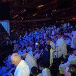 The scene inside Madison Square Garden