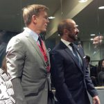 Actor Daniel Craig awaits the Pope at the United Nations