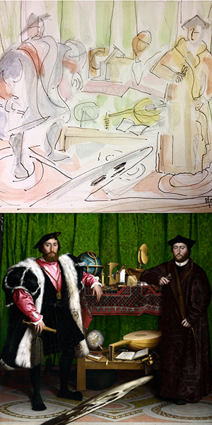 Hoffman and Holbein's ambassadors.