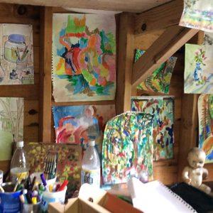 Hoffman's upstate studio.