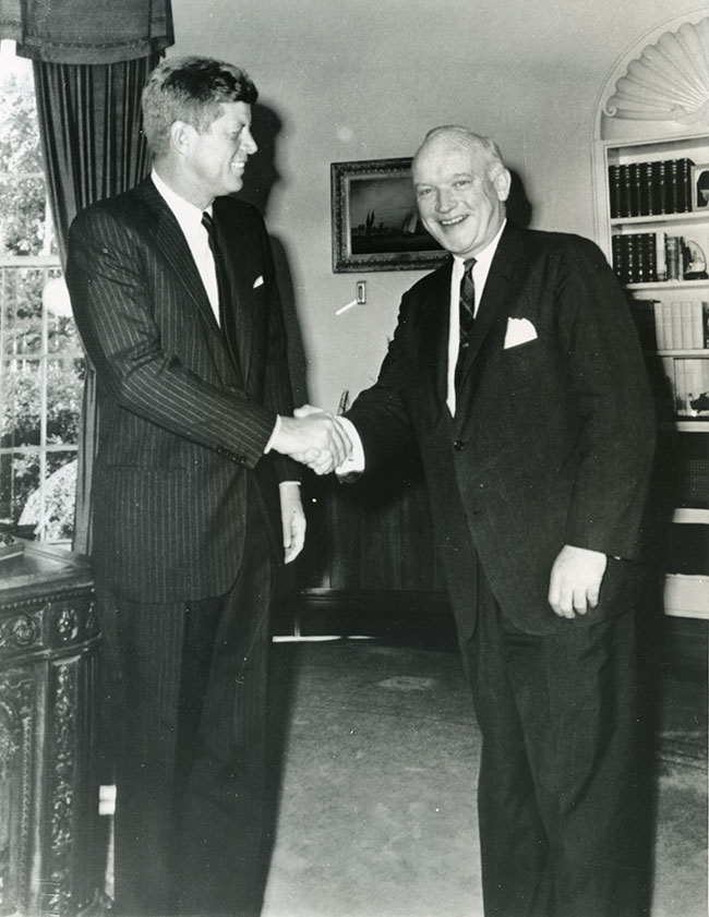 President John F. Kennedy thanks Donovan for his help in negotiating the Abel-Powers-Pryor exchange. Courtesy of Hoover Institution Library & Archives, Stanford University