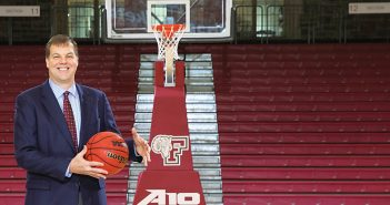 Fordham men's basketball coach Jeff Neubauer
