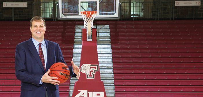 Fordham men's basketball coach Jeff Neubauer