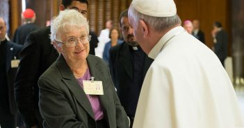 Sister Maureen Kelleher Pope Francis at the synod 2015