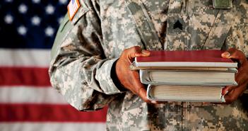 veteran with books