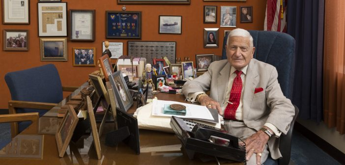 Longtime criminal defense lawyer Frank Lucianna in his Hackensack, New Jersey, office.